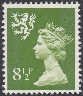 GB Stamps 1976 Scotland Machin Definitive 8.5p Yellow Green, 2 Bds, MNH, S/G S27