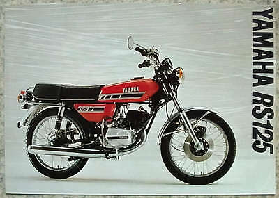 YAMAHA RS 125 - Motorcycle Sales/Specification Sheet - c1977 - #0107045