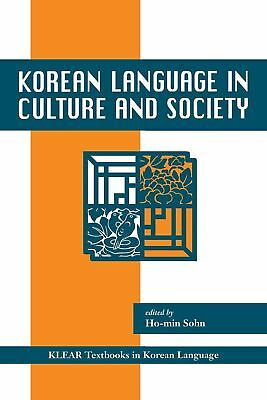 Korean Language in Culture and Society by Ho-min Sohn (English) Paperback Book F