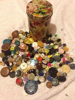 Tin Vintage& Modern Buttons Over 350+