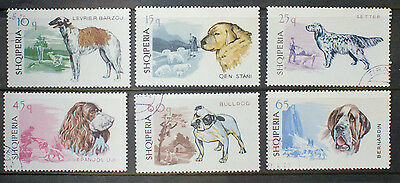 Albania 1966 Dogs Used 6 Stamps