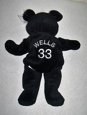 "Salvinos Bammer's DAVID WELLS Opening Day 9"" Beanbag Plush Bear #33  w/ Tags"