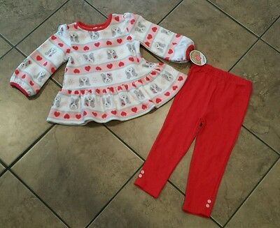 CARTERS  INFANT GIRL'S 2-PC FLEECE TOP AND LEGGING OUTFIT SET, size 24M