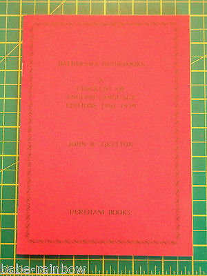 BAEDEKER GUIDEBOOKS: - English Language Editions 1861-1939 - FINE COPY