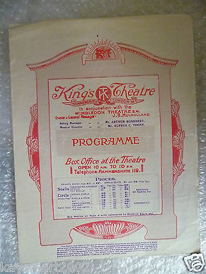 1923 King's Theatre Programe THE SECOND MRS. TANQUERAY-Patrick Campbell,A Pinero