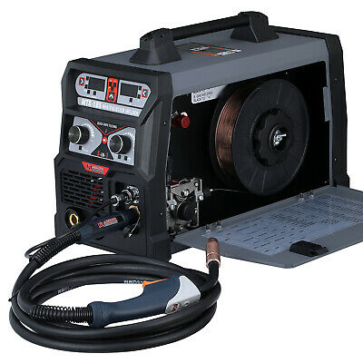 MTS-185, 185 Amp MIG Flux Cored Wire, TIG Torch, Stick Arc 3-IN-1 Combo Welder