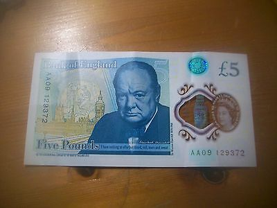 £5 note AA09