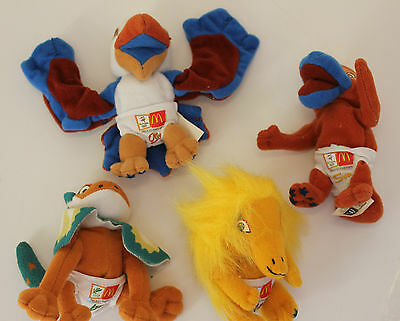 Sydney 2000 Olympic game/ Paralympics *RARE* 4 official plush mascots (C501)