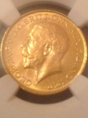 1918-I  Great Britain India Gold Sovereign Ms65!!!!rare