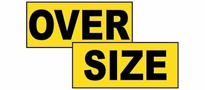 ComplianceSigns Magnetic Wide / Oversize / Long Load Signs Set, 72 x 12 with Eng