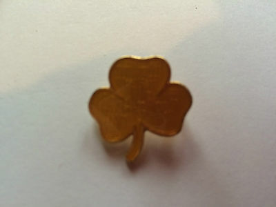 Girl Guides / Scouts Metal Yellow Trefoil