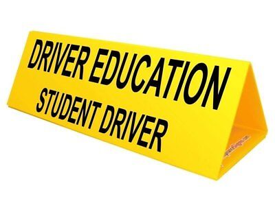 ComplianceSigns Corrugated Plastic Student Driver Car Topper, 30 x 10 with Engli