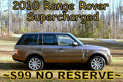 2010 Land Rover Range Rover HSE Supercharged    $99 NO RESERVE 2010 - 1 OWNER! EVERY OPTION! LOOKS & DRIVES AMAZING! $99 NO RESERVE!