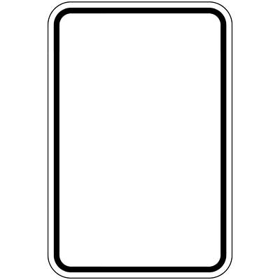 ComplianceSigns Aluminum Parking Control sign, Reflective 18 x 12 in. Blank Writ