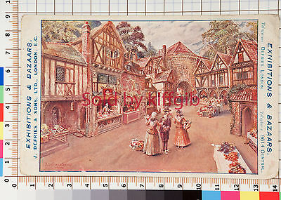 Exhibitions and Bazaars J Defries & Sons London. Advertising postcard