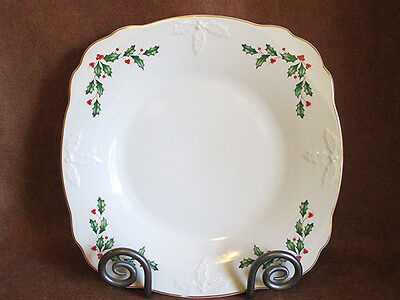 Lenox Holiday Carved Low Bowl Christmas Serving Dish 1St Quality Fine China