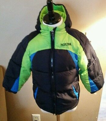Pacific Trail toddler boys blue & green winter coat size 4T