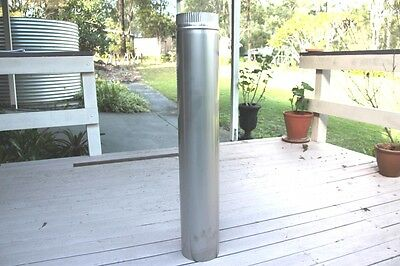 New Stainless Steel Flue Pipes for Fireplace, Stove, Pizza Oven Etc. 150 X 900