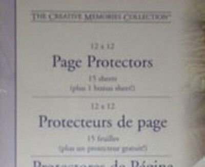 CREATIVE MEMORIES PAGE PROTECTORS 12x12 OLD Original for refill plastic covers