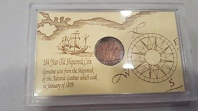 184 Year Old Shipwreck Coin - Admiral Gardner - January 1809