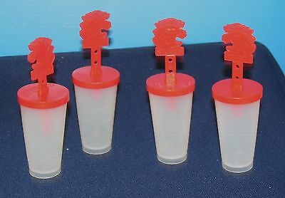 VINTAGE FIGURAL PUNCHY HAWAIIAN PUNCH POPCICLE FREEZE POP MOLD lot /4