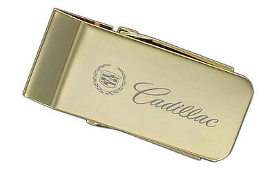 Cadillac Polished Solid Brass Full Money Clip