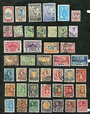 Stamp Lot Of Thailand, (2 Scans)