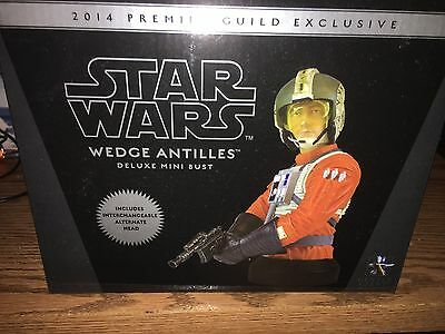 Star Wars Gentle Giant Wedge Antilles Mini Bust PMG EXCLUSIVE MIB #d 474 RARE
