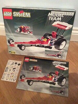 Lego System 5533 Red Fury Dragster Box And Instructions Only