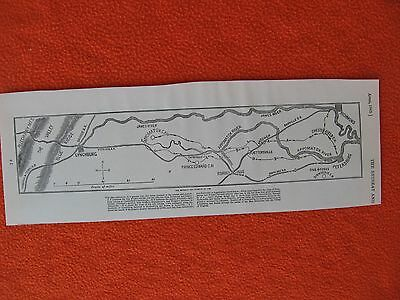 Harper's Weekly Civil War Print - Map of the Retreat & Pursuit of Lee - FRAME IT