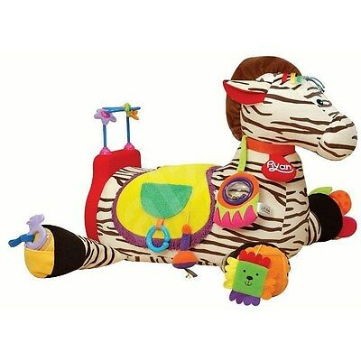 K's Kids Ryan Zebra Plush Ride On Multi Sensory Didactic 6M & Up Baby Horse Toy