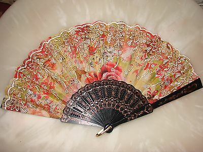 Chinese  Hand Painted Silk Fan