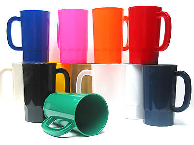 2  Large 32 Ounce Plastic Beer Mugs Your Choice of Colors Made in America