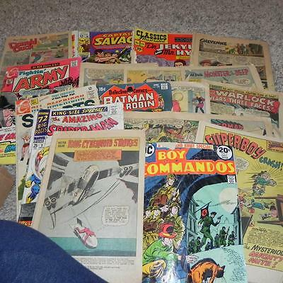 #52 Vintage lot of old Detective Charlton DC Commandos Marvel Comics Commic Book