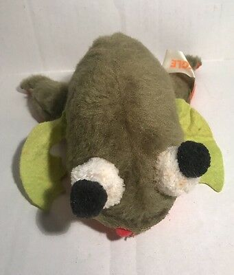 Russ Berrie Fleegle Frog Ground Nuts Shells Made in Korea Plush Vintage