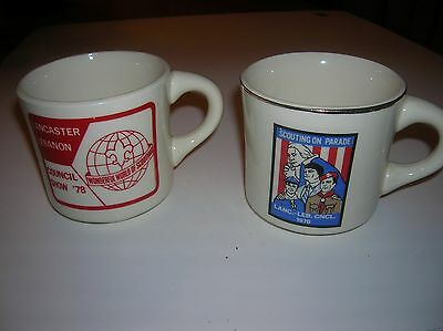 Lot of 2 Boy Scout Coffee Mugs 1976 & 78 Lancaster Lebanon