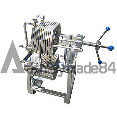 NEW 150 Stainless Steel Filter Press Filter Machine Lab Filtration Equipment