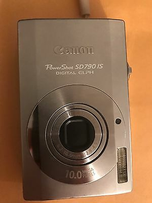 Canon Powershot SD790IS 10MP Camera with Case and Battery Charger