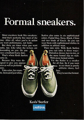 1968 Keds Surfer Shoes: Formal Sneakers Print Ad (24234)