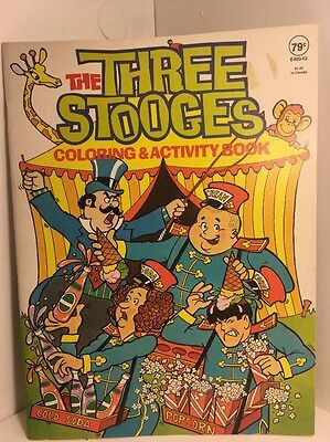 RARE 1983  Vintage Three Stooges Coloring & Activity Book #412-2 Vol.#2 80s