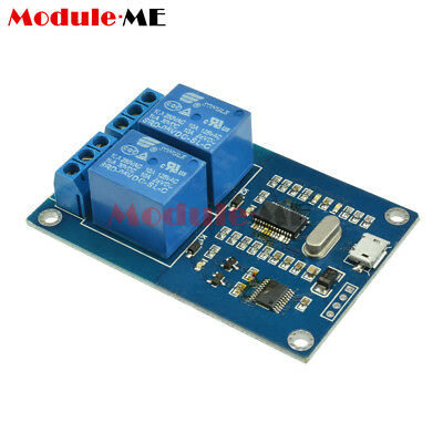 MICRO USB 5V 2-Channel Relay Module USB Control Relay Module Serial Port MO