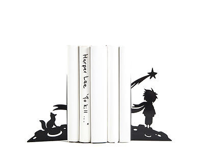 Atelier Article - Gift Steel bookends - The little Prince (Black)