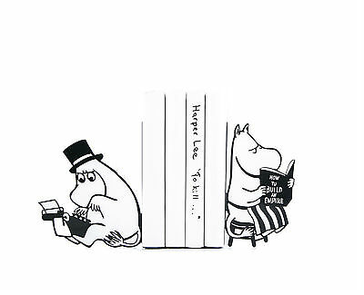 Atelier Article - Gift Steel bookends - Moomins by Tove Jansson (Black)