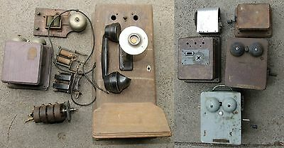 Antique Wooden Wall Telephone Boxes & Parts,Bulk Lot-Deceased Estate - PMG ??