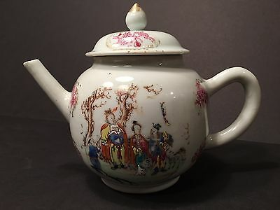 Antique Chinese Large Famille Rose Teapot, Qianlong period, Ca 1760