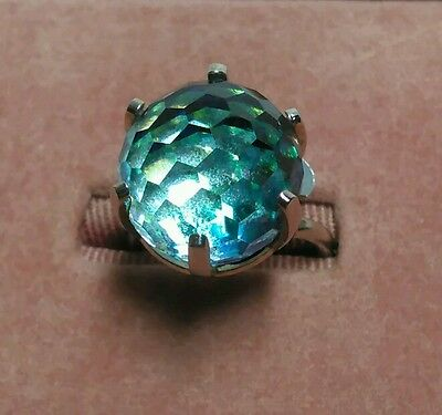 Vintage SARAH COVENTRY Adjustable Ring Faceted Crystal Glass Disco Ball