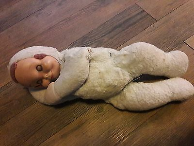 Vintage Knickerbocker SleepyHead Doll 1950' Plush Dolls Pajama