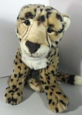 "Fao Cheetah Leopard Plush Stuffed Animal 20"" Good Cond"