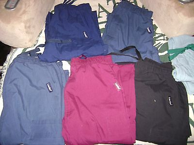 MEDIUM-MEDICAL SCRUBs-PANT-LOT-5-LANDAU 7-POCKET-SCRUBS-EMT-HOSPITAL-DR/NURSE