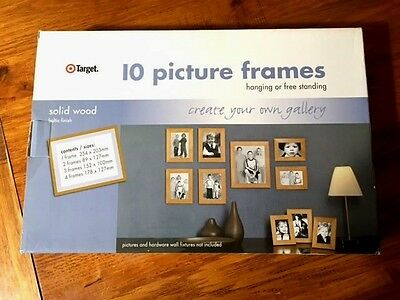 10 Piece Picture Photo Frame Set Wall Solid Wood Decor Art TARGET